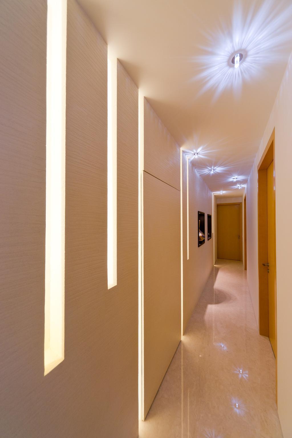 Minimalistic, Condo, Scotts Highpark, Interior Designer, D Initial Concept, Corridor, Basement, Indoors, Room