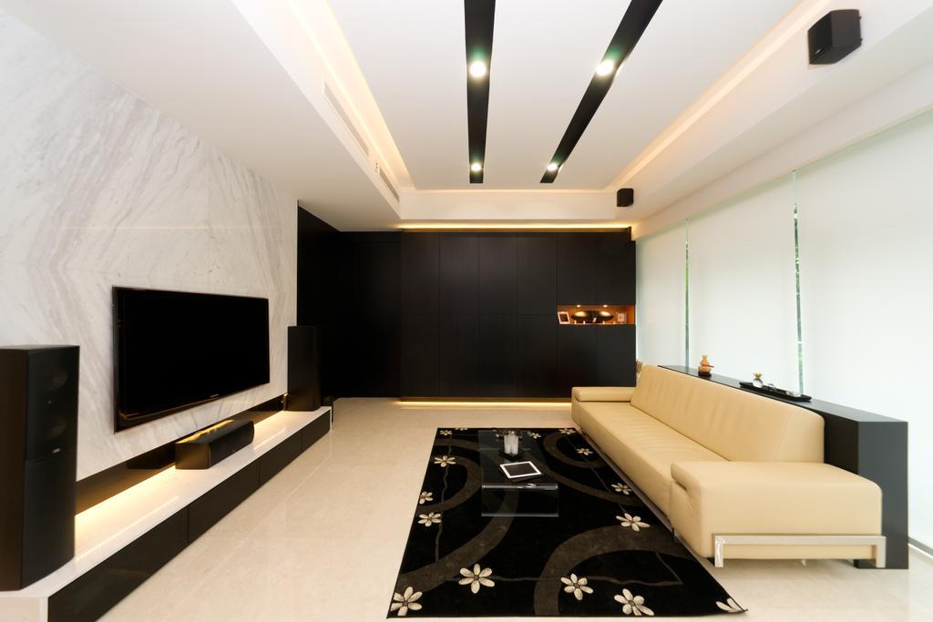 Minimalistic, Condo, Living Room, Scotts Highpark, Interior Designer, D Initial Concept, Indoors, Interior Design