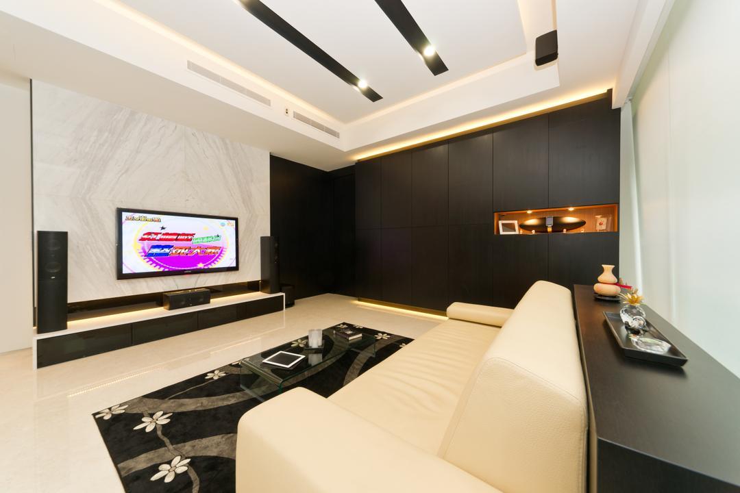 Scotts Highpark, D Initial Concept, Minimalistic, Living Room, Condo, Indoors, Interior Design, Furniture, Tabletop