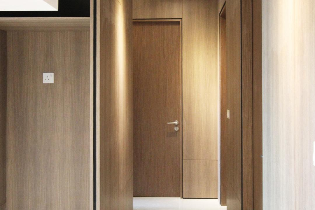 St. Patricks, Dreammetal, Modern, Condo, Recessed Lights, White, Ceiling, Floor, Wooden Partition, Wooden Wall, Wooden Floor