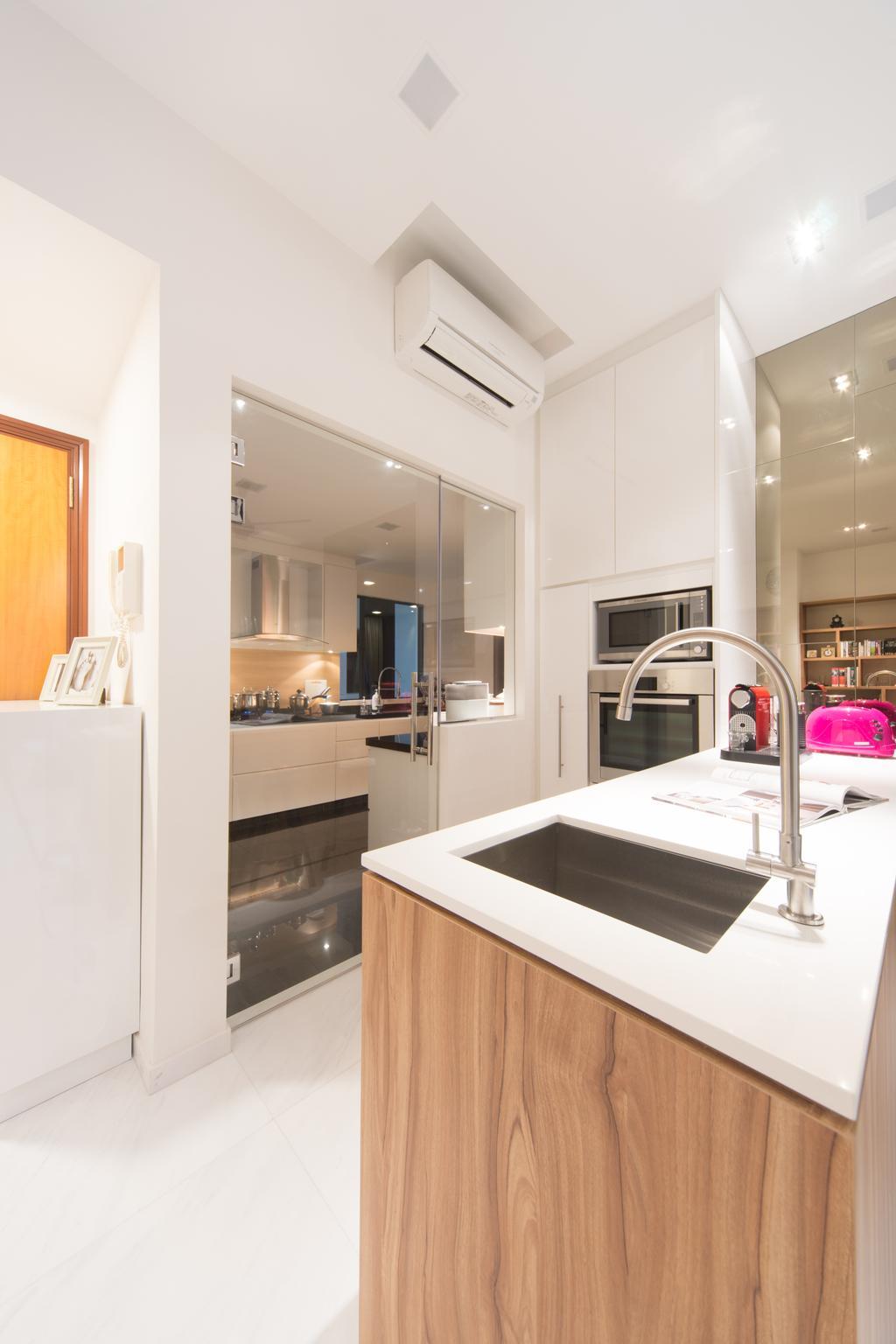Modern, Condo, Kitchen, The Sterling, Interior Designer, D Initial Concept, Sink, Indoors, Interior Design