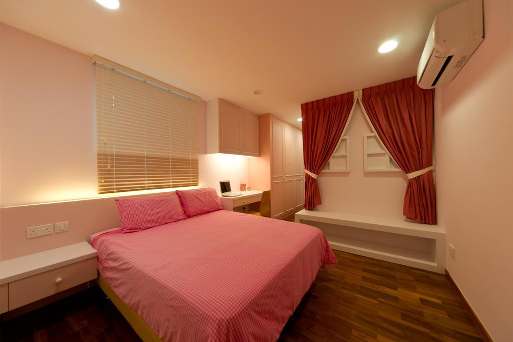 Modern, Landed, Bedroom, Eastwood Road, Interior Designer, D Initial Concept, Curtain, Home Decor, Indoors, Interior Design, Room