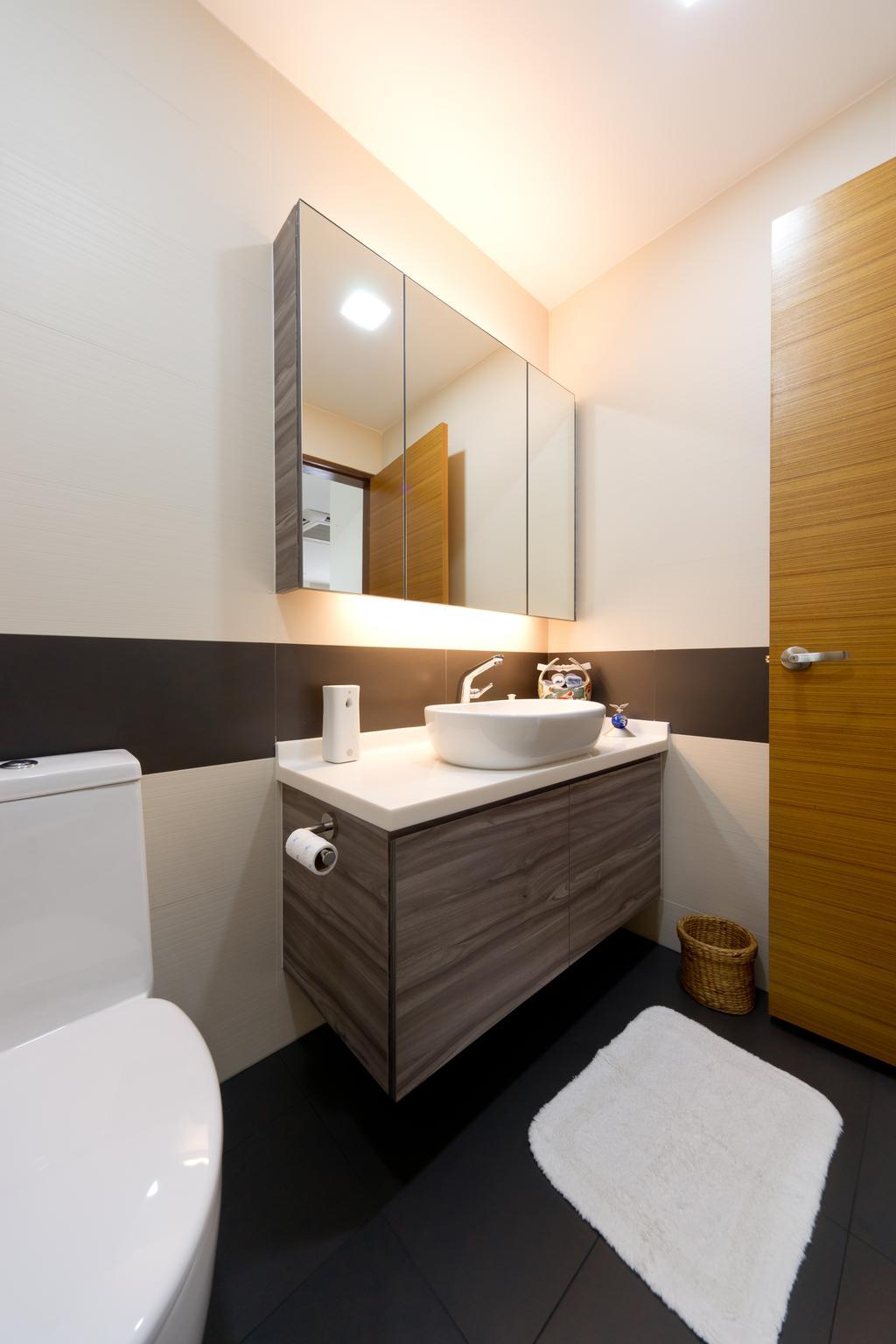 Modern, Landed, Bathroom, Jalan Bangket, Interior Designer, D Initial Concept, Contemporary, Indoors, Interior Design, Room