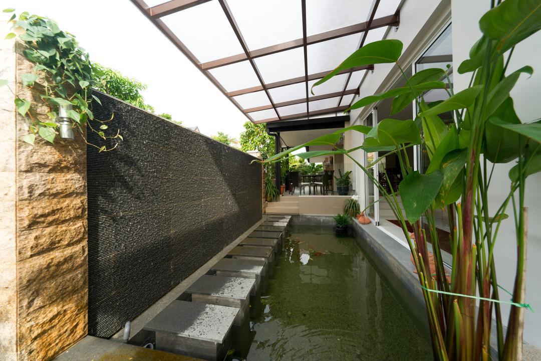 Jalan Bangket, D Initial Concept, Modern, Contemporary, Garden, Landed, Flora, Ivy, Plant