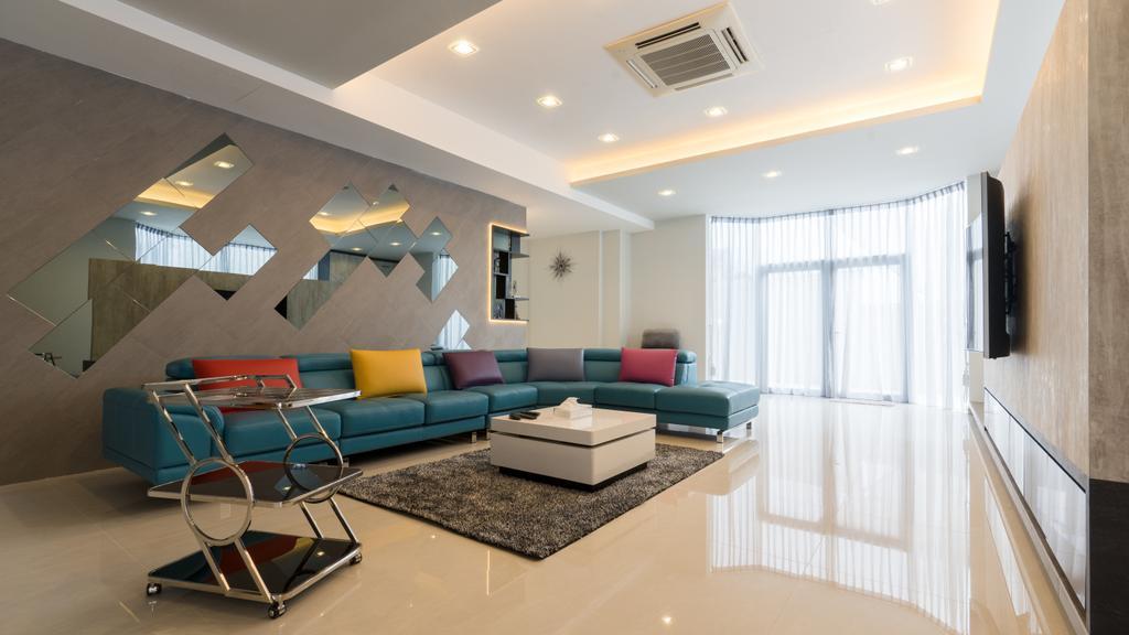 Modern, Landed, Living Room, Sennett Terrace, Interior Designer, D Initial Concept, Contemporary, Chair, Furniture, Air Conditioner