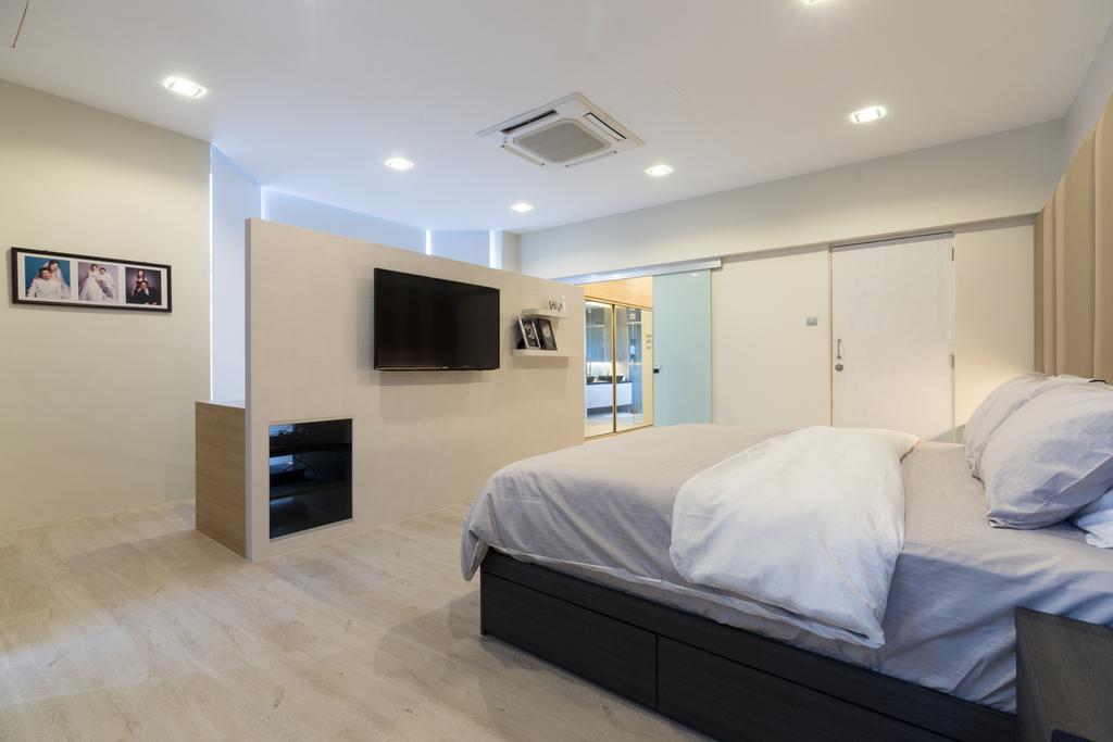 Modern, Landed, Bedroom, Sennett Terrace, Interior Designer, D Initial Concept, Contemporary, Bed, Furniture