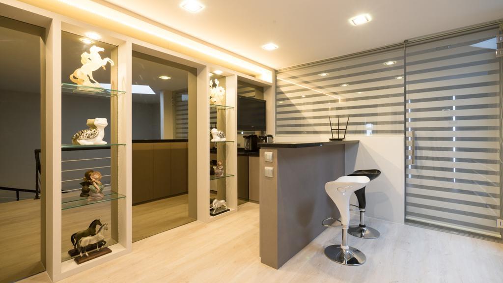 Modern, Landed, Sennett Terrace, Interior Designer, D Initial Concept, Contemporary, Bar Stool, Furniture, Molding, Indoors, Interior Design