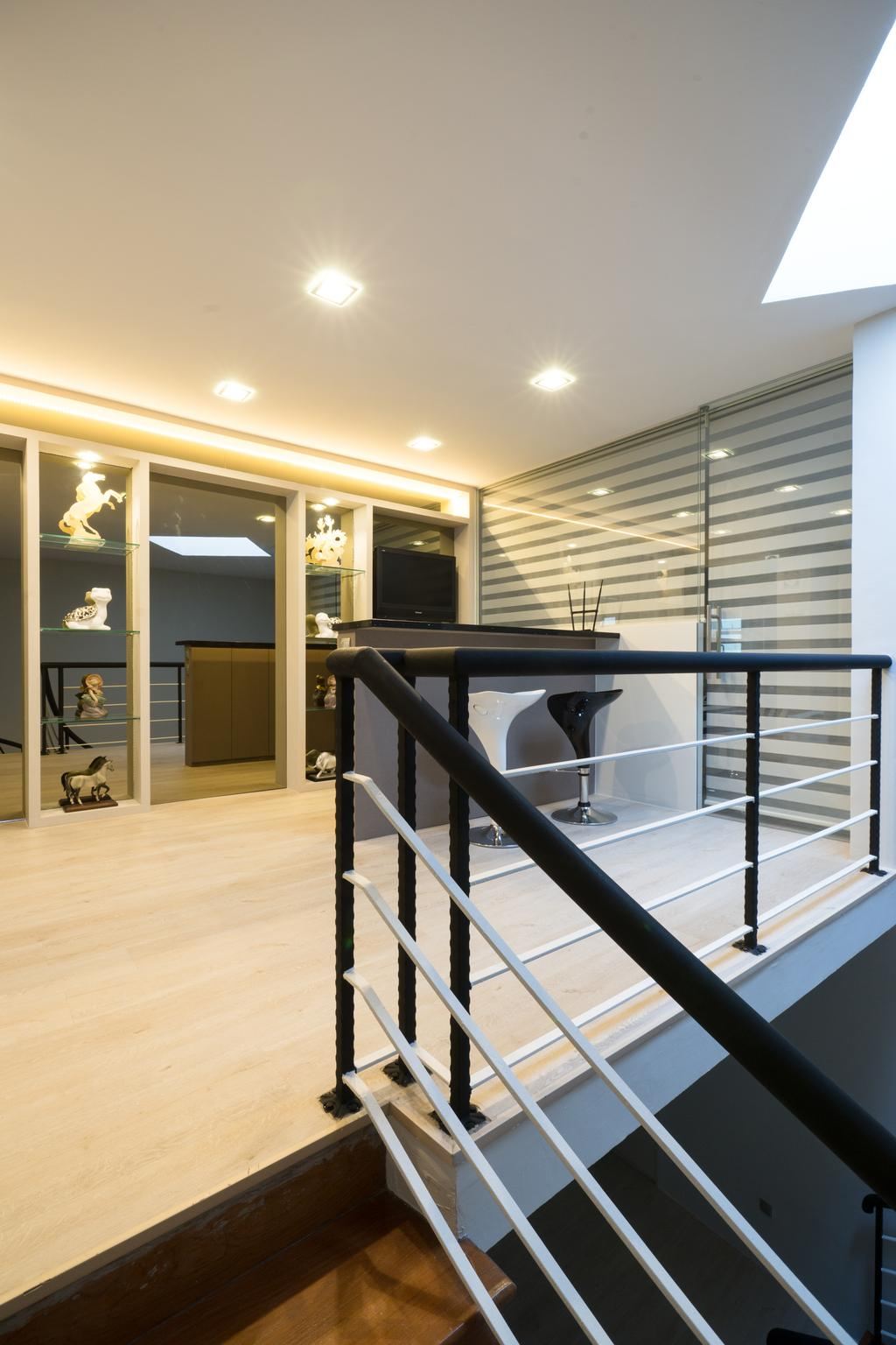 Modern, Landed, Sennett Terrace, Interior Designer, D Initial Concept, Contemporary, Electronics, Entertainment Center, Home Theater