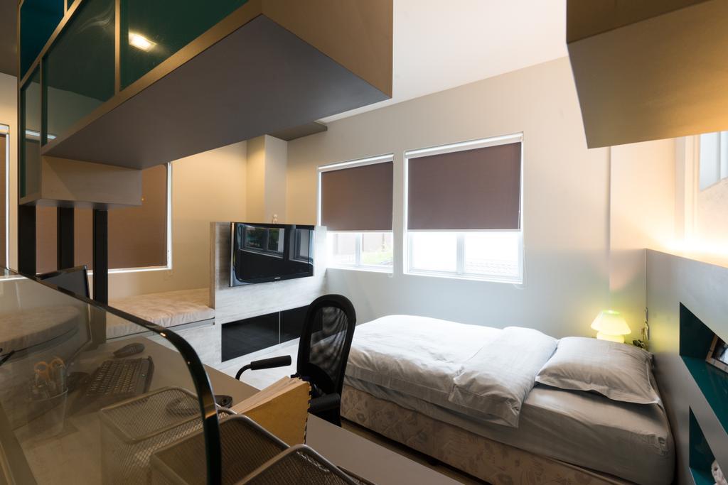 Modern, Landed, Bedroom, Sennett Terrace, Interior Designer, D Initial Concept, Contemporary, Indoors, Room, Bed, Furniture