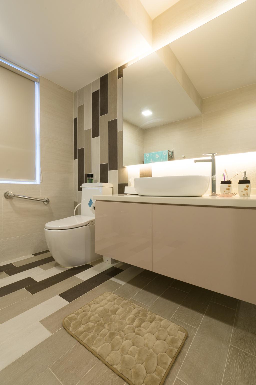 Modern, Landed, Sennett Terrace, Interior Designer, D Initial Concept, Contemporary, Bathroom, Indoors, Interior Design, Room, Toilet