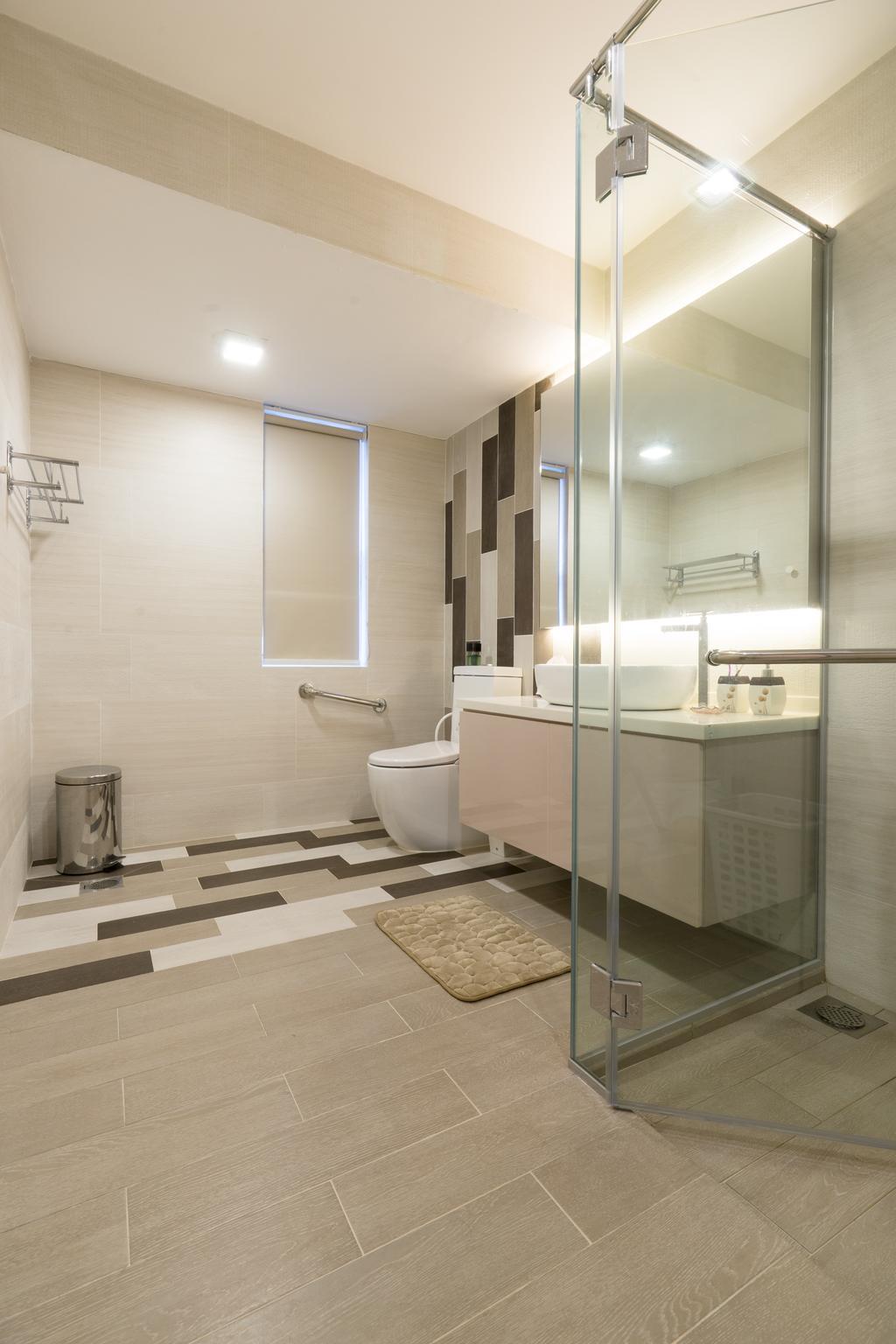 Modern, Landed, Bathroom, Sennett Terrace, Interior Designer, D Initial Concept, Contemporary, Indoors, Interior Design, Room, Toilet