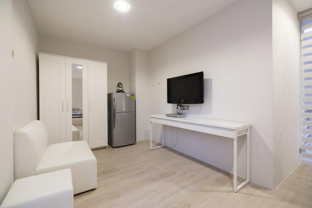 Modern, Landed, Living Room, Sennett Terrace, Interior Designer, D Initial Concept, Contemporary, Appliance, Electrical Device, Fridge, Refrigerator, Chair, Furniture