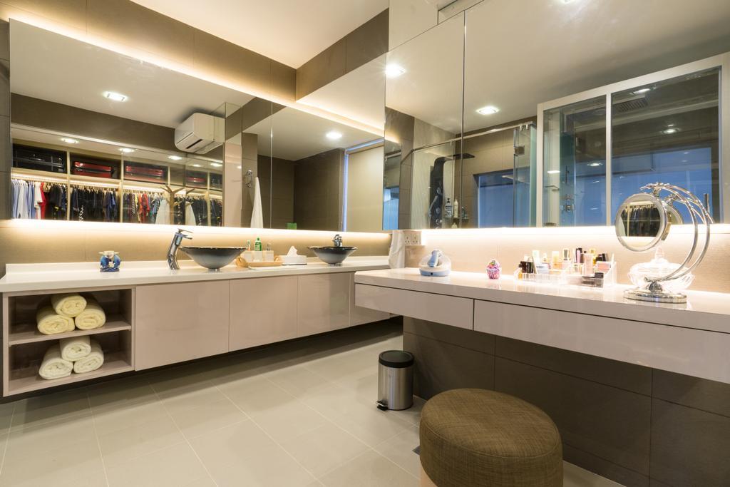 Modern, Landed, Sennett Terrace, Interior Designer, D Initial Concept, Contemporary, Bathroom, Indoors, Interior Design, Room, Lighting