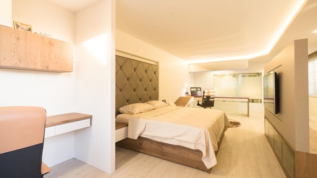 Modern, Landed, Bedroom, Sennett Terrace, Interior Designer, D Initial Concept, Contemporary, Bed, Furniture, Chair