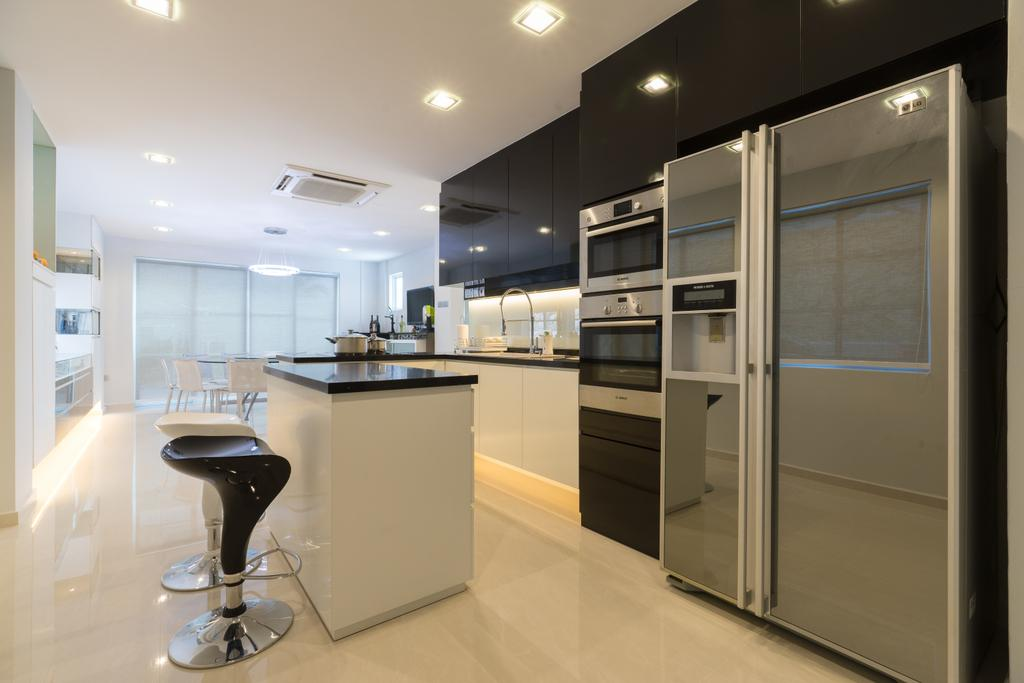 Modern, Landed, Kitchen, Sennett Terrace, Interior Designer, D Initial Concept, Contemporary, Indoors, Interior Design, Room