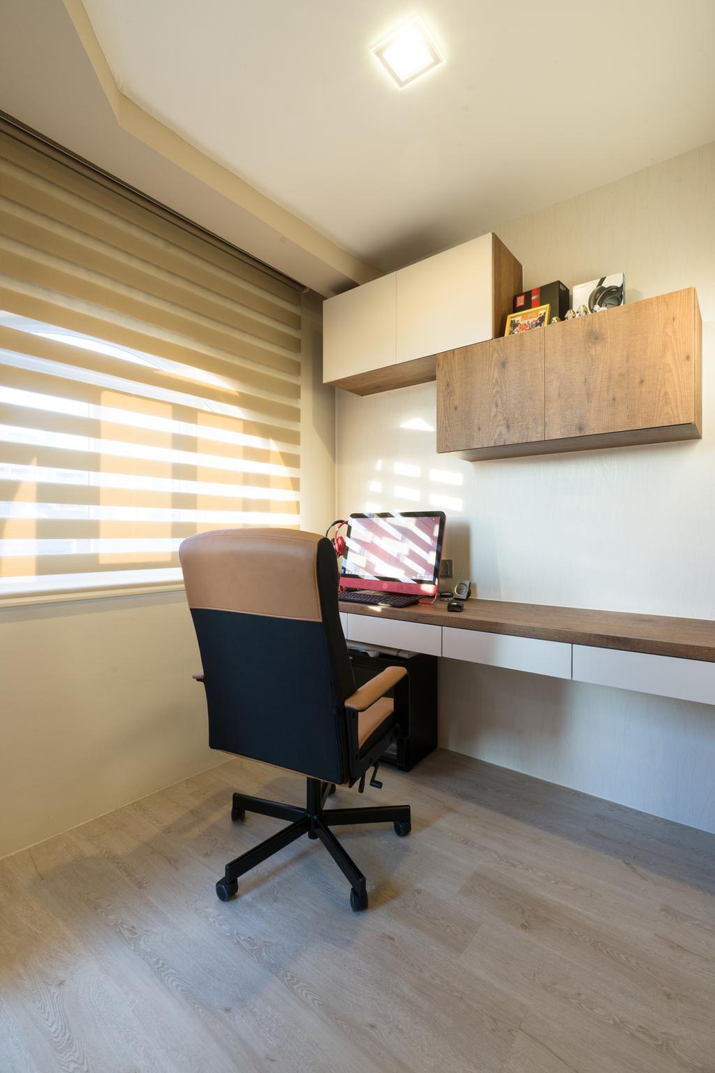Modern, Landed, Bedroom, Sennett Terrace, Interior Designer, D Initial Concept, Contemporary, Chair, Furniture, Shelf