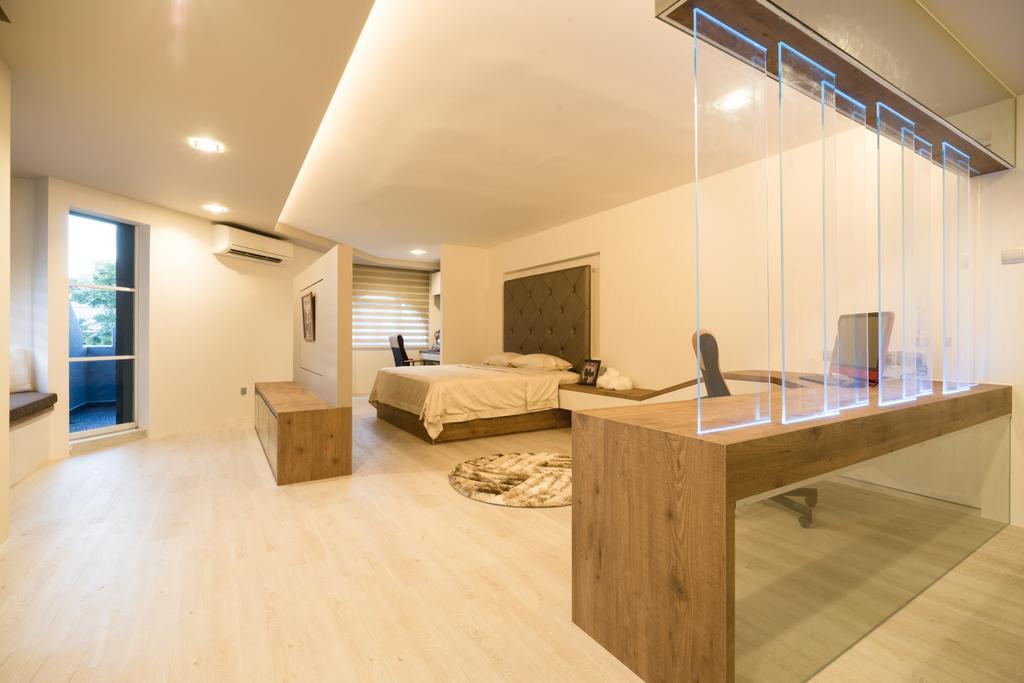 Modern, Landed, Bedroom, Sennett Terrace, Interior Designer, D Initial Concept, Contemporary, Flooring, Bed, Furniture
