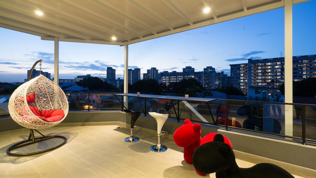 Modern, Landed, Balcony, Sennett Terrace, Interior Designer, D Initial Concept, Contemporary, Chair, Furniture, Beverage, Drink