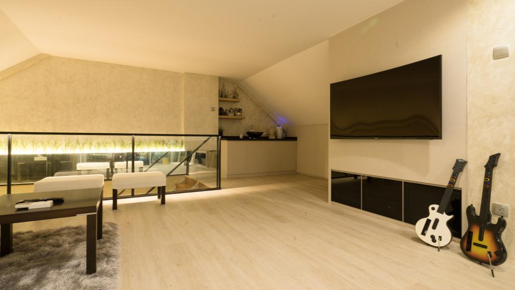 Modern, Landed, Living Room, Sennett Terrace, Interior Designer, D Initial Concept, Contemporary, Indoors, Interior Design, Flooring, Room