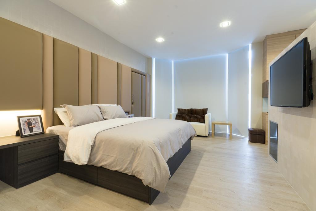 Modern, Landed, Bedroom, Sennett Terrace, Interior Designer, D Initial Concept, Contemporary, Bed, Furniture, Indoors, Room, Interior Design
