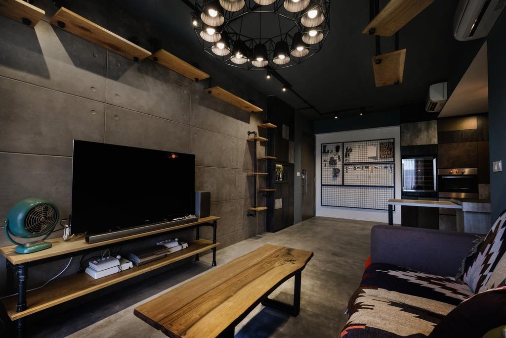 Modern, Condo, Living Room, The Citylife, Interior Designer, Lemonfridge Studio, Industrial, HDB, Building, Housing, Indoors, Loft, Interior Design, Couch, Furniture