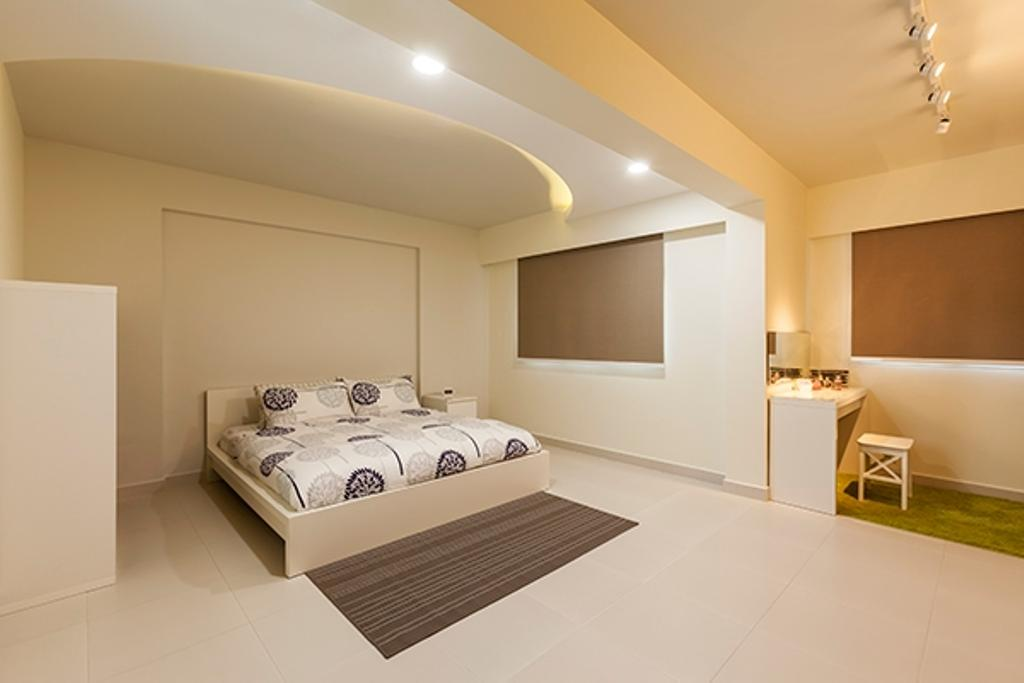 Minimalistic, HDB, Bedroom, Yishun Avenue 9 (Block 315A), Interior Designer, The Interior Lab, False Ceiling, Concealed Lighting, Track Light, Track Lighting, Trackie, White Interior, White Wall, Indoors, Room