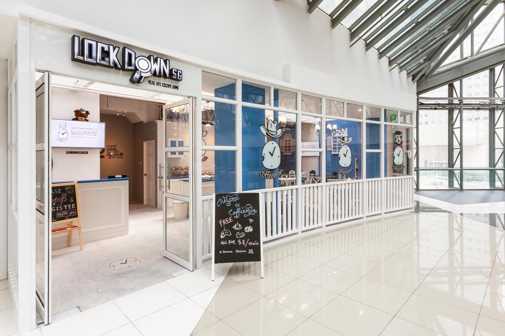 Suntec Tower, Commercial, Interior Designer, The Interior Lab, Modern, Exterior, Glass Display, Chalkboard, Counter Top, White Interior, Blackboard, Tile, Window