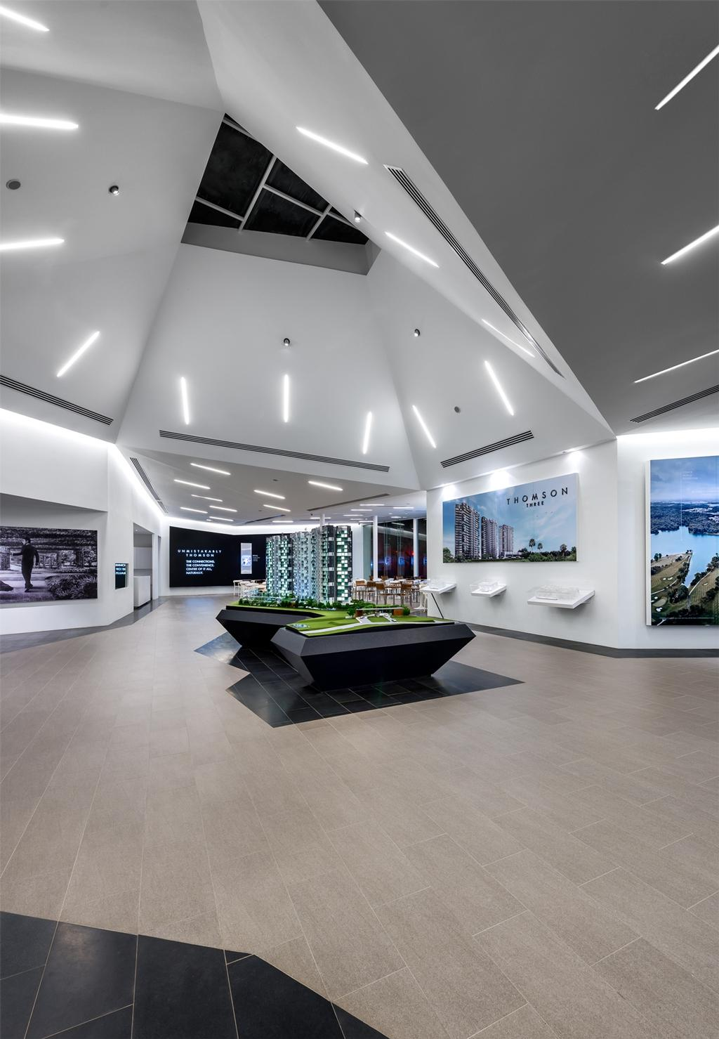 UOL Frame, Commercial, Architect, Ministry of Design, Modern, Recessed Lights, Recessed Lighting, Sloped Ceiling, Slanted Ceiling, High Ceiling, Wooden Flooring, Display Tables, Wall Picture, Wall Shelf