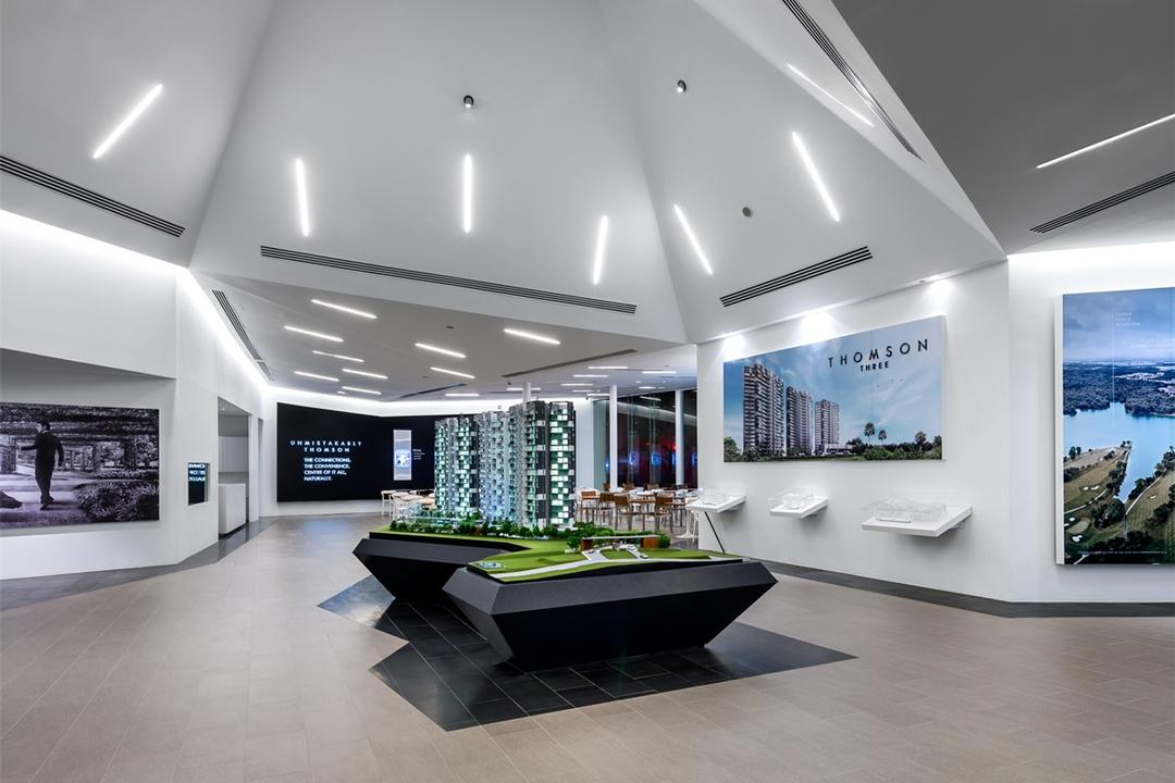 UOL Frame, Ministry of Design, Modern, Commercial, Recessed Lights, Recessed Lighting, Sloped Ceiling, Slanted Ceiling, High Ceiling, Wooden Flooring, Display Tables, Wall Picture, Wall Shelf