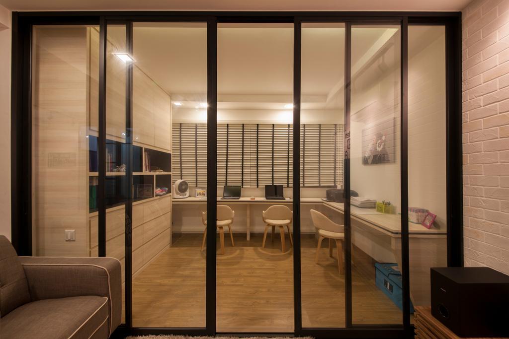 Industrial, HDB, Bedroom, Yishun Ring Road, Interior Designer, Corazon Interior, Scandinavian, Chair, Furniture, Indoors, Interior Design, Room, Flooring
