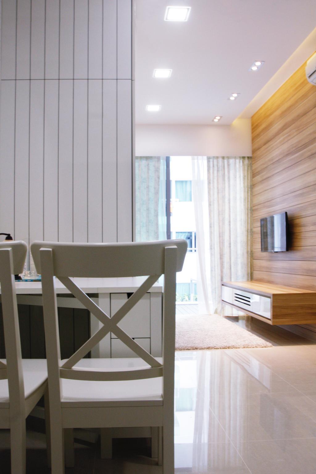 Minimalistic, Condo, Dining Room, 22 Hillview Terrace, Interior Designer, Corazon Interior, Chair, Furniture