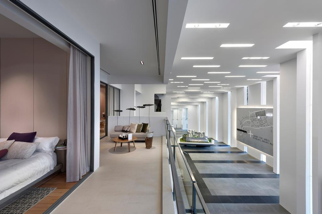 UOL Edge, Commercial, Architect, Ministry of Design, Modern, Recessed Lighting, Recessed Lights, White Ceiling, White Walls, High Ceiling, Corridor, Lighting