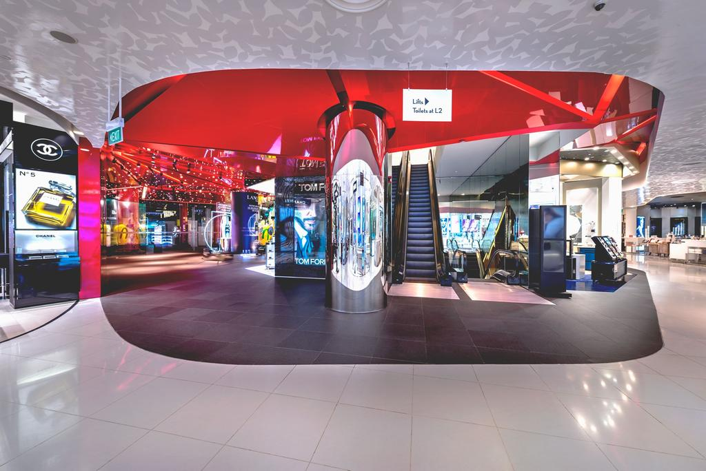 TANGS, Commercial, Architect, Ministry of Design, Modern, High Ceiling, Marble Flooring, Red Ceiling, Shop, Appliance, Electrical Device, Fridge, Refrigerator