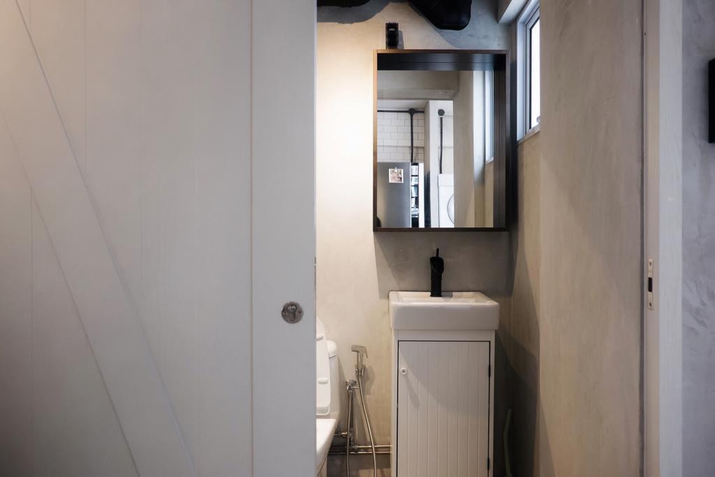 Modern, HDB, Bathroom, Yishun Ring Road, Interior Designer, Fifth Avenue Interior, Industrial, Indoors, Interior Design, Room