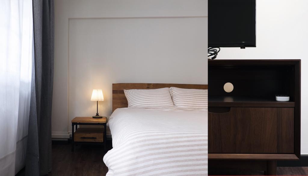 Modern, HDB, Bedroom, Yishun Ring Road, Interior Designer, Fifth Avenue Interior, Industrial, Furniture, Sideboard, Bed, Curtain, Home Decor, Indoors, Interior Design, Room