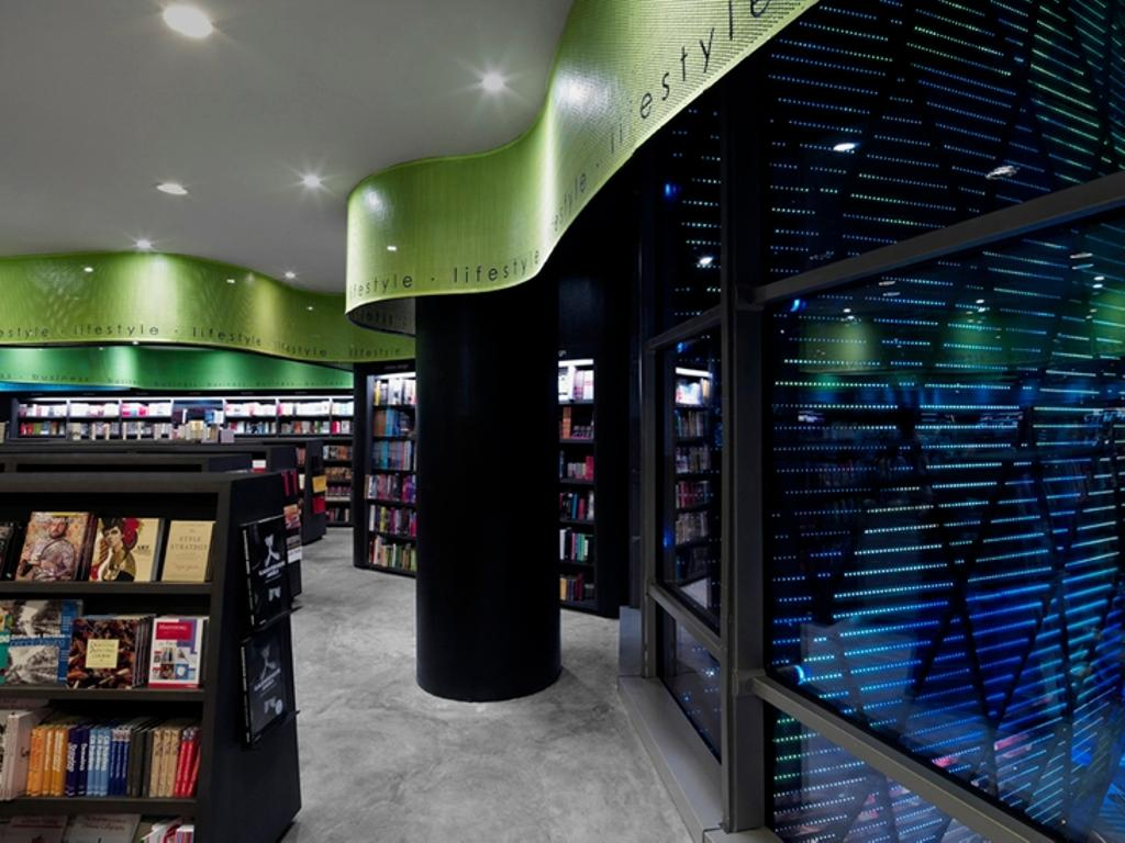Prologue, Commercial, Architect, Ministry of Design, Modern, Recessed Lighting, Recessed Lights, Black Pillar, Glass Windows, False Ceiling, Bookshelves, Black Bookshelves, Book, Kiosk