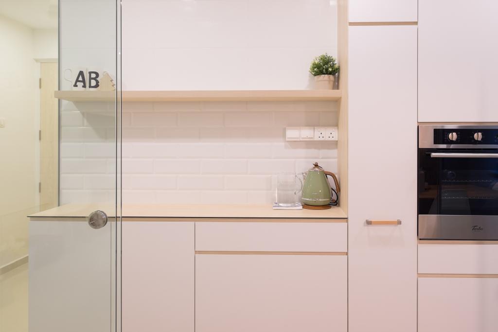 Minimalist, HDB, Kitchen, Fernvale Road (Block 407B), Interior Designer, Nitty Gritty Interior