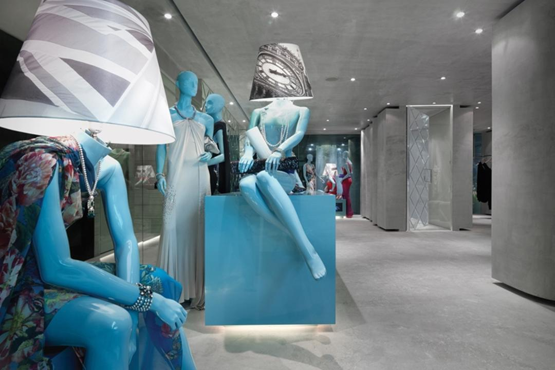 Ashley Isham Mandarin, Ministry of Design, Contemporary, Commercial, Concrete Floor, Recessed Lighting, Recessed Lights, Figurines, Model Displays, Mannequins, Robot