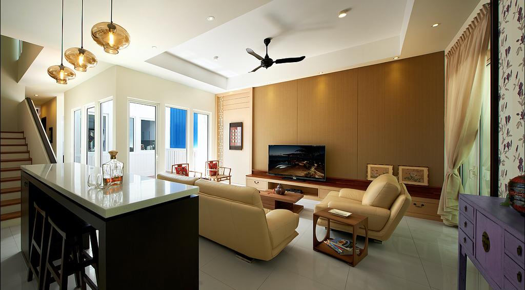 Modern, Landed, Living Room, Ariza, E&O @ Penang, Interior Designer, Archiplan Interior Design, Contemporary, Indoors, Interior Design