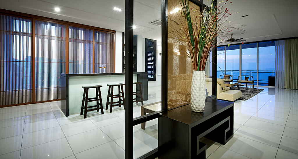 Modern, Condo, Dining Room, Sky Home, Penang, Interior Designer, Archiplan Interior Design, Contemporary, Bar Stool, Furniture, Indoors, Interior Design, Chair, Apartment, Building, Housing, Table