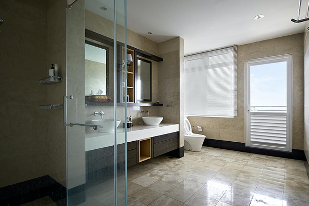 Sky Home, Penang, Archiplan Interior Design, Modern, Contemporary, Bathroom, Condo, Flooring, Floor, Window
