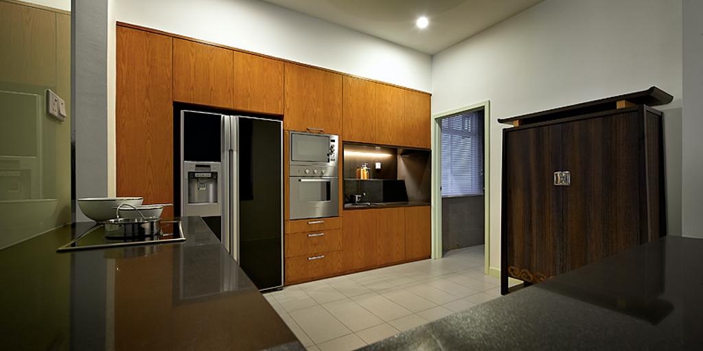 Modern, Condo, Kitchen, Sky Home, Penang, Interior Designer, Archiplan Interior Design, Contemporary, Appliance, Electrical Device, Oven, Fridge, Refrigerator, Flooring