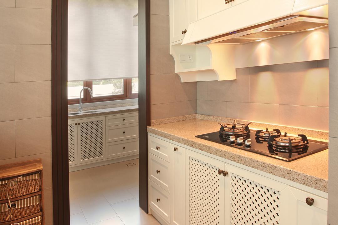 Fortune Residence, Codrington Road @ Penang, Archiplan Interior Design, Modern, Transitional, Kitchen, Landed, Indoors, Interior Design, Room, Appliance, Electrical Device, Oven, Hardwood, Stained Wood, Wood