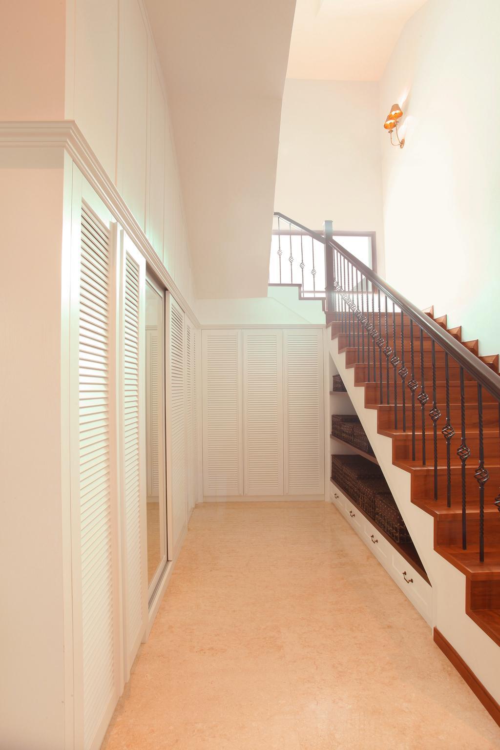Modern, Landed, Fortune Residence, Codrington Road @ Penang, Interior Designer, Archiplan Interior Design, Transitional, Banister, Handrail, Staircase