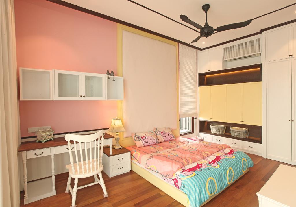 Modern, Landed, Bedroom, Fortune Residence, Codrington Road @ Penang, Interior Designer, Archiplan Interior Design, Transitional, Indoors, Interior Design, Room