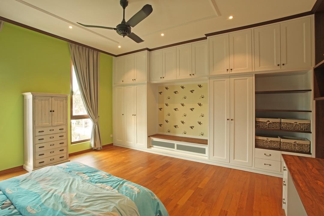 Fortune Residence, Codrington Road @ Penang, Archiplan Interior Design, Modern, Transitional, Bedroom, Landed, Hardwood, Stained Wood, Wood, Furniture