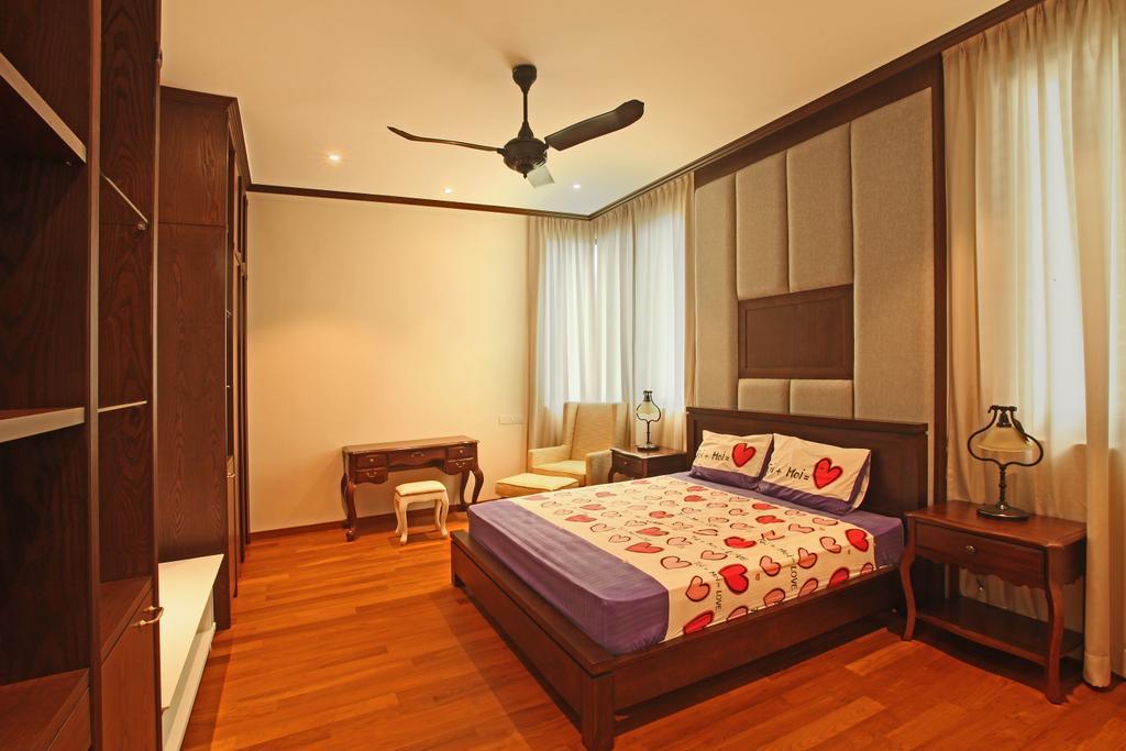 Modern, Landed, Bedroom, Fortune Residence, Codrington Road @ Penang, Interior Designer, Archiplan Interior Design, Transitional, Light Fixture, Bed, Furniture