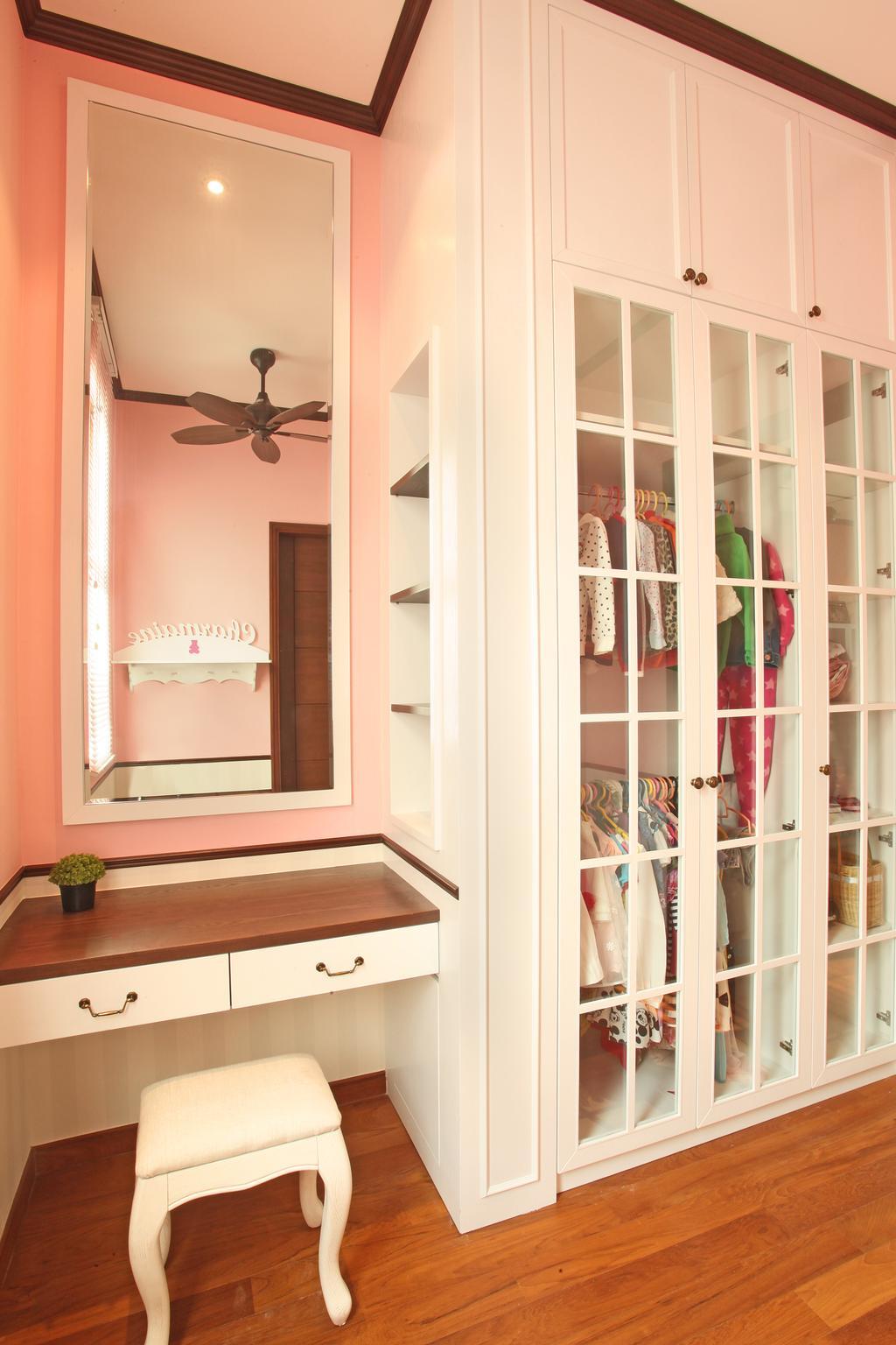 Modern, Landed, Bedroom, Fortune Residence, Codrington Road @ Penang, Interior Designer, Archiplan Interior Design, Transitional, Closet, Furniture, Wardrobe