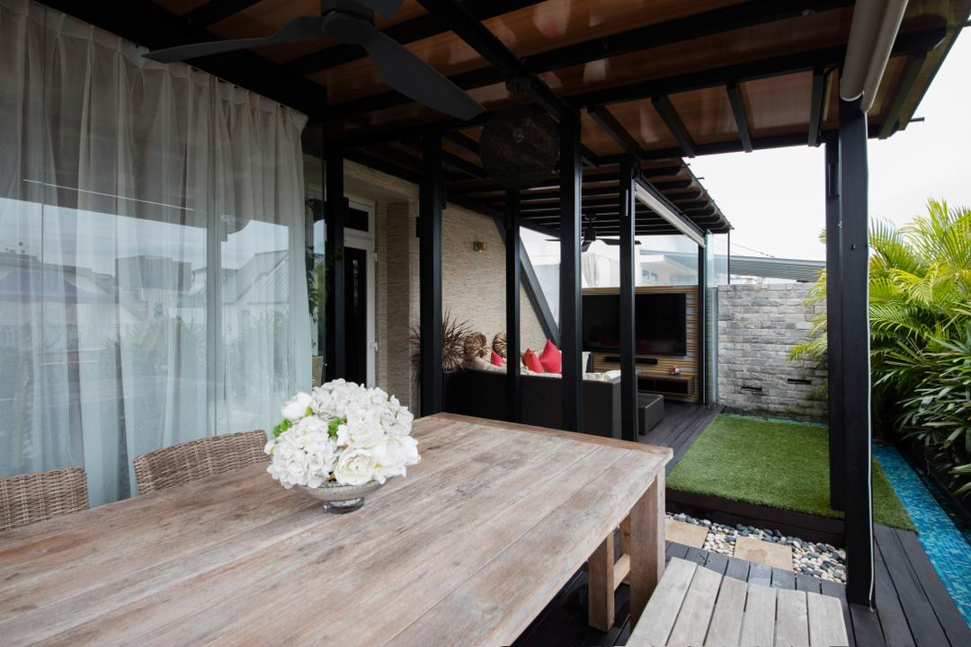 Parc Rosewood, Schemacraft, Modern, Garden, Condo, Wooden Table, Wooden Floor, Wooden Ceiling, Porch, Building, House, Housing, Villa, Dining Table, Furniture, Table