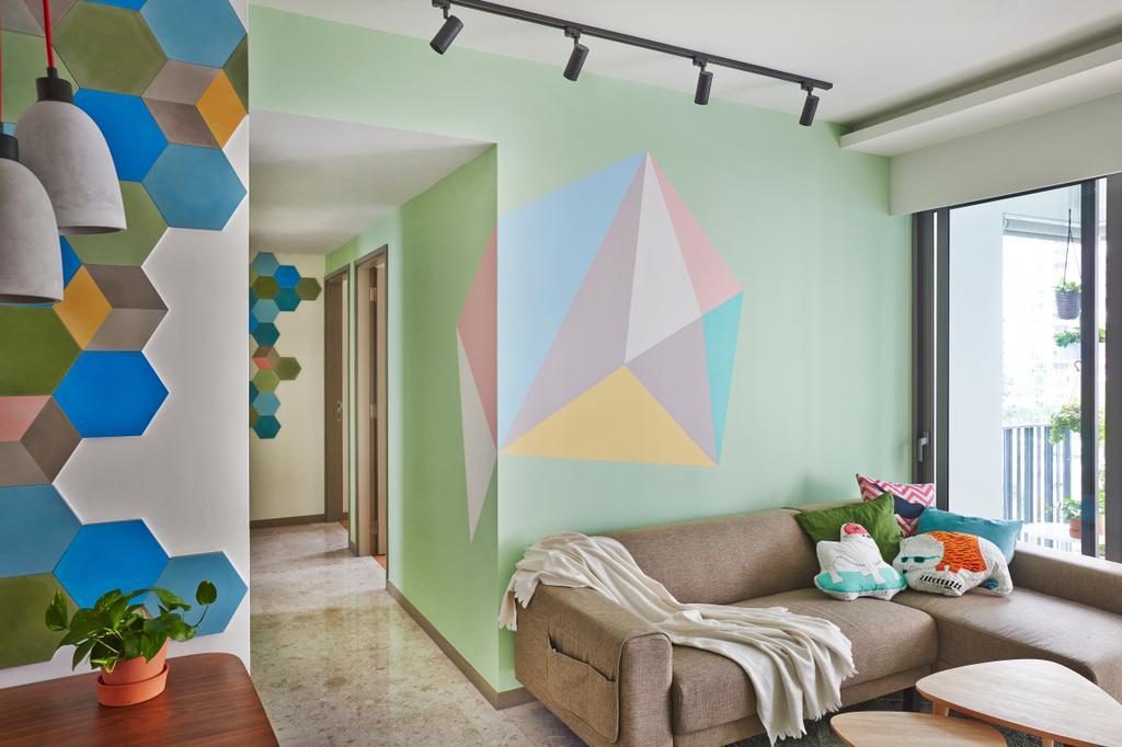 Eclectic, Condo, Living Room, Riversails, Interior Designer, Free Space Intent, Couch, Furniture, Indoors, Interior Design, Paper